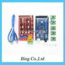 Китайский комплект электроники для 3D-принтера (Arduino Mega 2560 R3+RAMPS 1.4 + 5xA4988 stepper motor drivers)