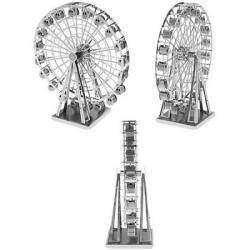 Чертово и еще раз чертово колесо, металлический 3D пазл колеса обозрения, Metallic Nano 3D DIY Ferris Wheel Jigsaw Puzzle Model