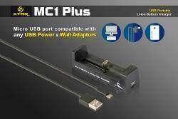 Xtar MC1 Plus - компактная универсальная зарядка для LiIon аккумуляторов