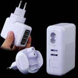 4 портовое USB зарядное устройство на 2.1А