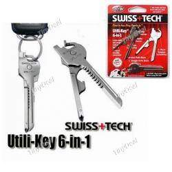 New 6 In 1 Utili-Key Mini Multitool Keyring Pocket Knife Folding Knife