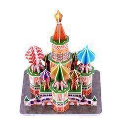 3D конструктор пазл из картона в виде Храма Василия Блаженного
