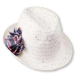 Летняя шляпка с бантом на тему флага США