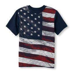 Футболка для мальчика, американский флаг, XL (14)