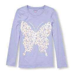 Кофточка для девочки с бабочкой