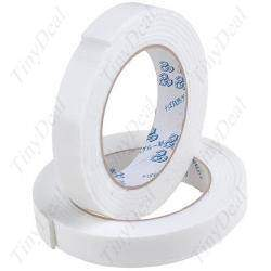 2x 3mm Portable White Double Faced Adhesive Foam Tape