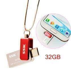 Флешка SSK SFD239 32GB USB 2.0 с Micro USB и USB разъемами