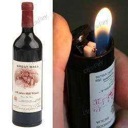 Зажигалка в форме бутылки с вином