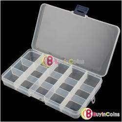 Пластиковый регулируемый контейнер для мелких деталей на 15 ячеек