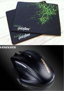 Игровой коврик Razer (OEM) и мышка Venix G3012