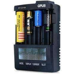 Всеядная зарядка для NiCd/NiMH/Li-ion аккумуляторов - Opus BT - C3100 V2.1