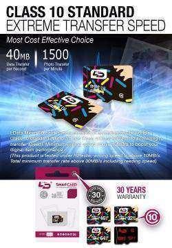 Micro SD карта 10 класса на 64 Гб от LD