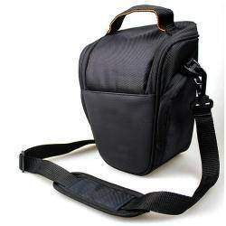 Professional Camera Case Bag Pouch with Shoulder Strap/Rain Cover for Canon(Size S/Black) Free Shipping