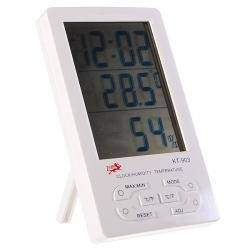 4.3' Digital LCD Humidity / Hygrometer and Thermometer with Extra Sensor Cable (1*AAA included)