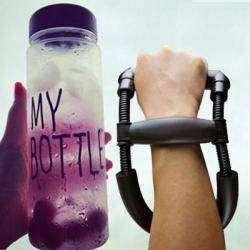 Бутылка для воды и тренажер для рук