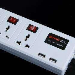 Универсальный удлинитель с двумя USB портами