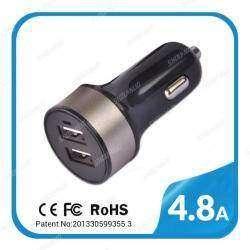 Зарядка от прикуривателя 4.8A с двумя USB портами