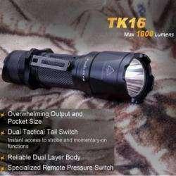 Новинка-2015! Тактический фонарь Fenix TK16: 1000Lm, XML2 U2, 18650.