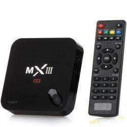 TV Box  MXIII - G (Android 5.1, воспроизведение 4Кх2К, Gigabit ethernet)