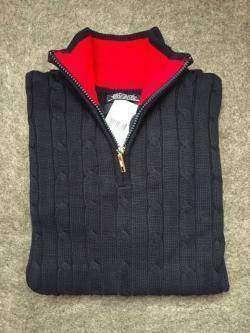 Обзор мужского свитера с воротником-обманкой. Качественная копия Tommy Hilfiger