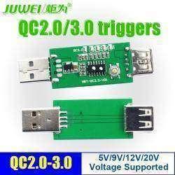 USB триггер JUWEI для включения режимов Quick Charge 2.0, 3,0 - 5, 9, 12 и 20 Вольт