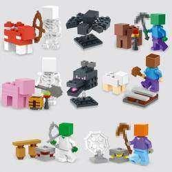 Обзор конструкторов, аналог фирмы лего,  из серии Minecraft (Майнкрафт). Часть 1 'Фигурки'