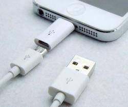 micro USB to Lighting переходник для Iphone 5