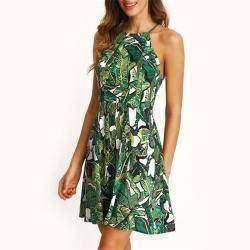 Женское зеленое летнее платье (и видео-демонстрация)