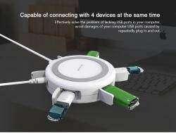 Nillkin Hermit - 3 в 1: Беспроводное зарядное устройство Qi, USB 3.0 Hub, мощная проводная usb зарядка