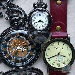 Мультиобзор совершенно разных часов (наручные винтажные, карманные скелетоны, декоративные/аксессуар)