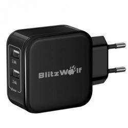 Зарядка BlitzWolf на 2 USB порта с технологией Power3S