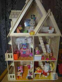 Обзор детского кукольного домика из серии сделай сам