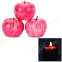 Свечи в виде яблок, для дополнения романтического настроя.