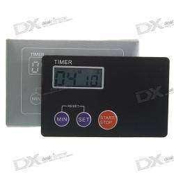 Кухонный ультратонкий цифровой таймер, размером с кредитную карточку, с ЖК-дисплеем, магнитным креплением и с доделкой.