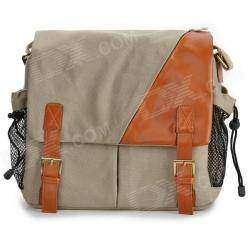 Фотосумка-портфель защитного цвета.