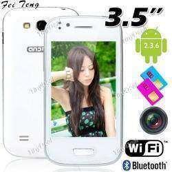 3.5' сенсорный экран Android 2.3 OС SP6820 смартфон с WiFi/ Bluetooth/ две камеры - белый P07-N93